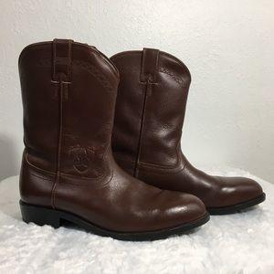 Ariat Men's Traditional Roper Boots Cordovan Brown